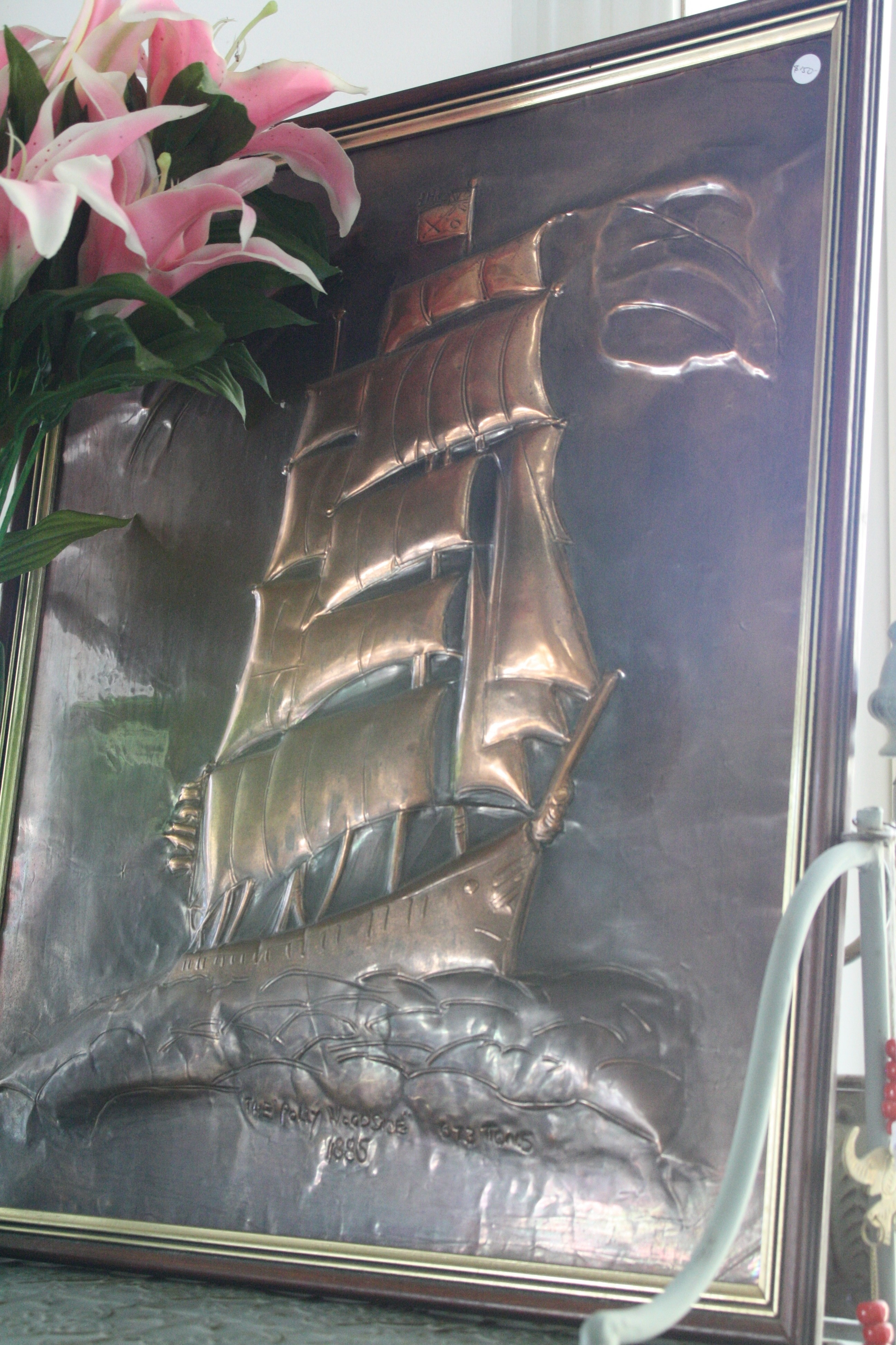 Brass-copper framed pic of Polly Woodside