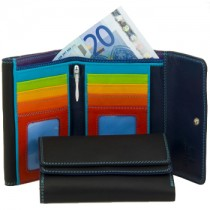 Double flap clutch-style purse wallet