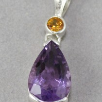 Amethyst with Citrine