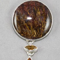 Pietersite Pendant with Citrine
