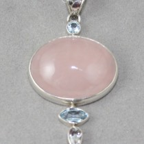 Rose Quartz with facets