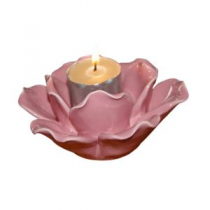 Pink Lotus Tealight Holder