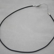2mm diam. rubber necklace