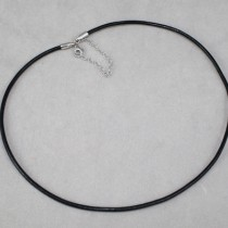 3mm diam. leather necklace