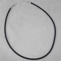 3mm diam. rubber necklace