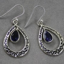 Iolite Hoop Earrings