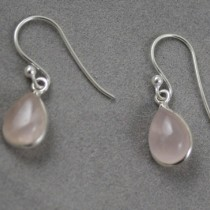 Rose Quartz tear drop earrings