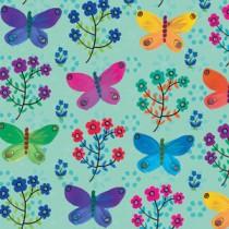 Aqua Butterflies Gift