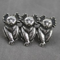 Three Koalas Brooch
