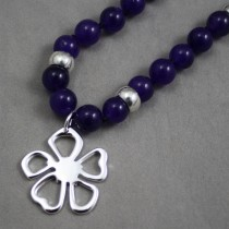 Amethyst beads with flower