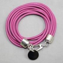 Leather Wrap - mauve - magenta