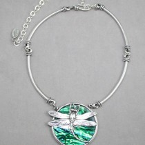 Shell Dragonfly Choker Emerald colour