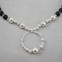 Black Agate and Silver