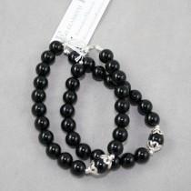Black Onyx and Silver Bracelet