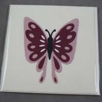 Pink-burgandy Butterfly