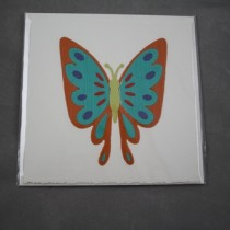 Orange-Turquoise Butterfly