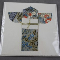 Kimono card, pale blue