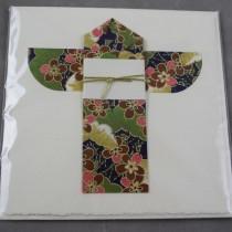 Kimono card, green