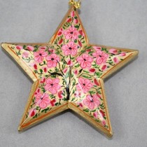 Gold floral star