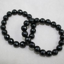 Black Tourmaline Faceted bracelet