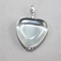 Glass Heart Locket Pendant