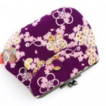Gamaguchi Purse Hana Purple