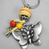 Butterfly key ring - blue
