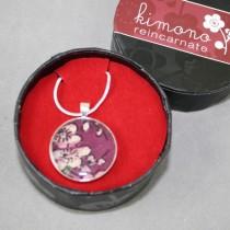 Kimono pendant, purple