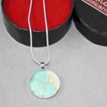 Kimono pendant, pale aqua