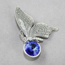 Butterfly Brooch with swarovski crystal