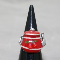 Taratata Red Teapot Ring