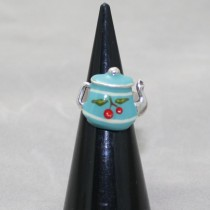 Taratata Blue Teapot Ring