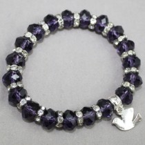 Iolite faceted bracelet with dove trinket