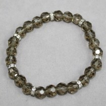 Smokey faceted crystals bracelet