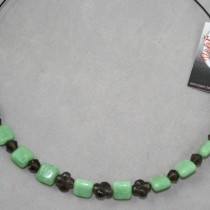 Jade beads on wire