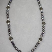 Pearls, Smokey Quartz, Silver