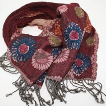 Natural fibre scarf