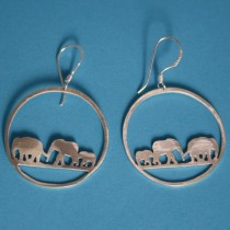 Elephant earrings by Shabana