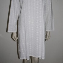 Embroidered White Kaftan