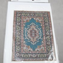 Miniature Carpet Card teal
