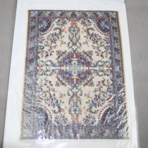 Miniature Carpet Card beige blue