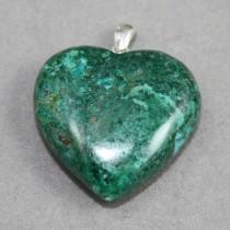 Chrysocolla Heart Pendant