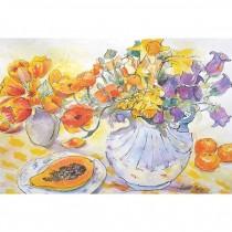 Orange Flowers and Juicy Paw Paw