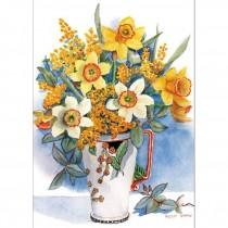 Daffodils, Wattle and Eucalyptus