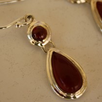 Carnelian tear drop earrings3