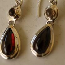 Garnet Tear Drop Earrings