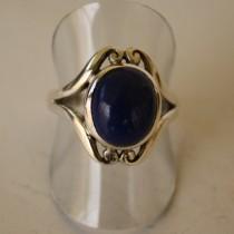 Lapis swirl ring
