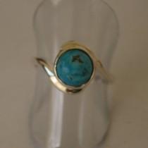 Turquoise swirl ring