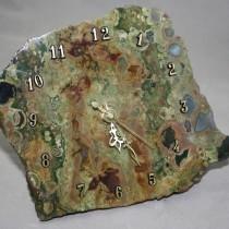 Marine Agate Clock