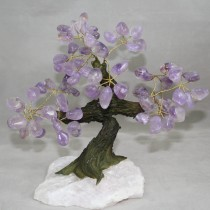Gemstone Tree - Amethyst on rose quartz